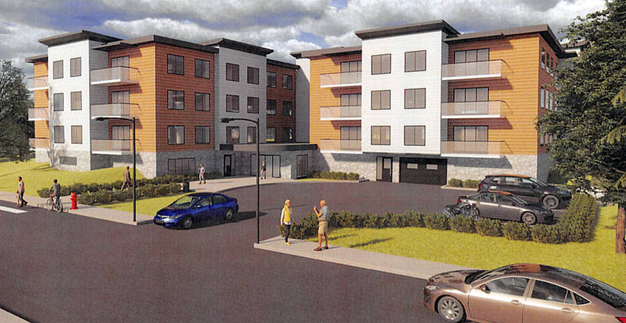 <p>A rendering provided to civic politicians in Bridgewater showing what the new residential development will look like.</p>