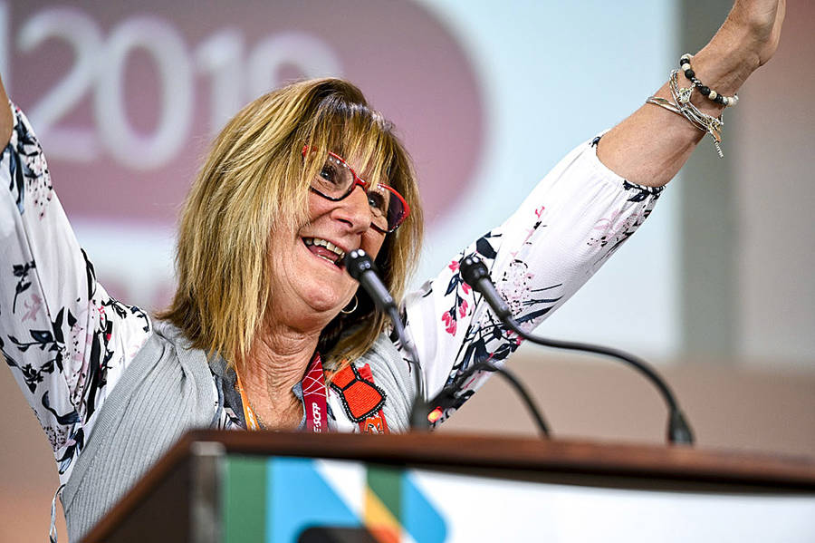 <p>JOSHUA BERSON PHOTOGRAPHY, PHOTO</p><p>Sharon Hubley of Oakhill was presented with the Grace Hartman Award at CUPE&#8217;s national convention in Montreal last month.</p>