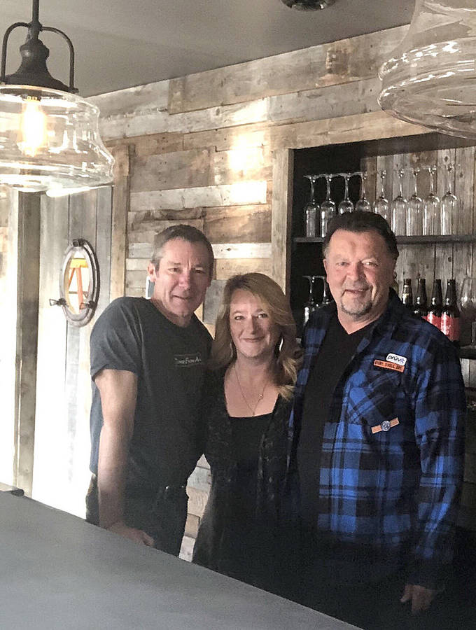 <p>CONTRIBUTED PHOTO</p><p>Partners in the new Osprey&#8217;s Nest Public House, left to right: Paul Knapman, Tanya Shaw, Peter MacNeil. Missing partner: Andrea Carew.</p>