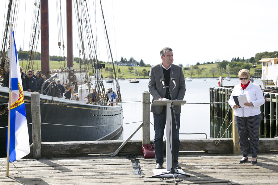 <p>BRITTANY WENTZELL PHOTO</p><p>Premier Stephen McNeil announces the Tall Ships Regatta's 2017 schedule for Nova Scotia. Lunenburg will be one of 11 ports the ships will stop in.</p>