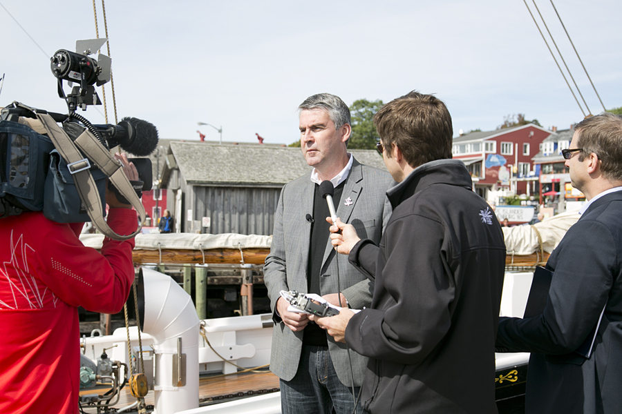 <p>BRITTANY WENTZELL PHOTO</p><p>Premier McNeil speaks to the press after the announcement.</p>
