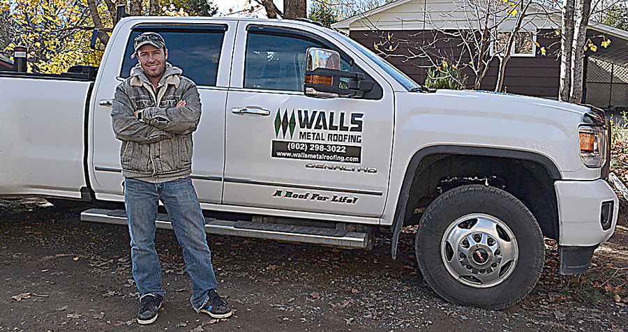 <p>GAYLE WILSON PHOTO</p><p>Johnny Wall, owner of Walls Metal Roofing, is expanding the company to include manufacturing and retail as well as installation.</p>